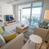 Deluxe Apart Daire, 1 Yatak Odası, Okyanus Manzaralı - Oturma Odası