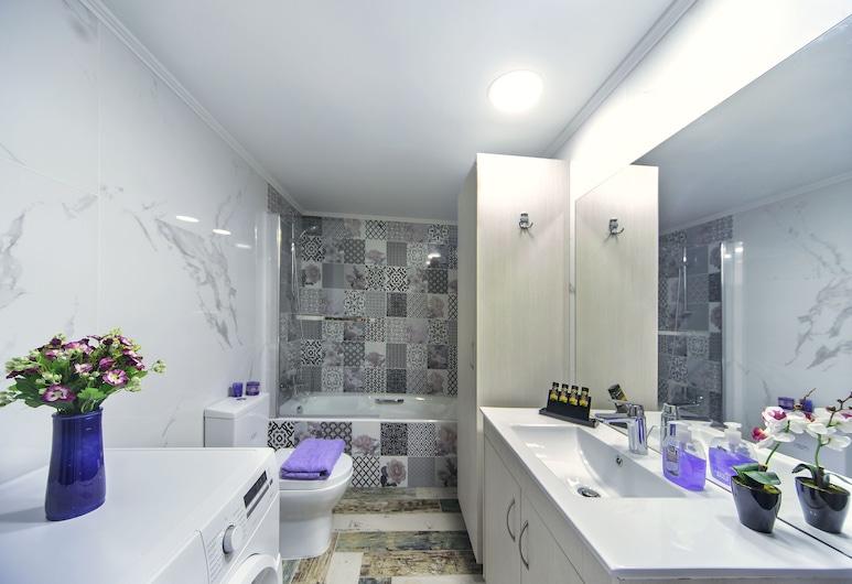 Casa Kasteli, Chania, Novomanželský apartmán, 1 spálňa, masážna vaňa, Hosťovská izba