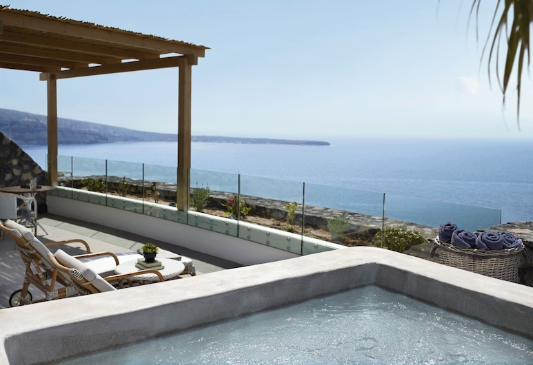 Santo Maris Oia, Luxury Suites & Spa, Santorini, Suite – exclusive, utsikt mot sjø, Utsikt fra gjesterommet