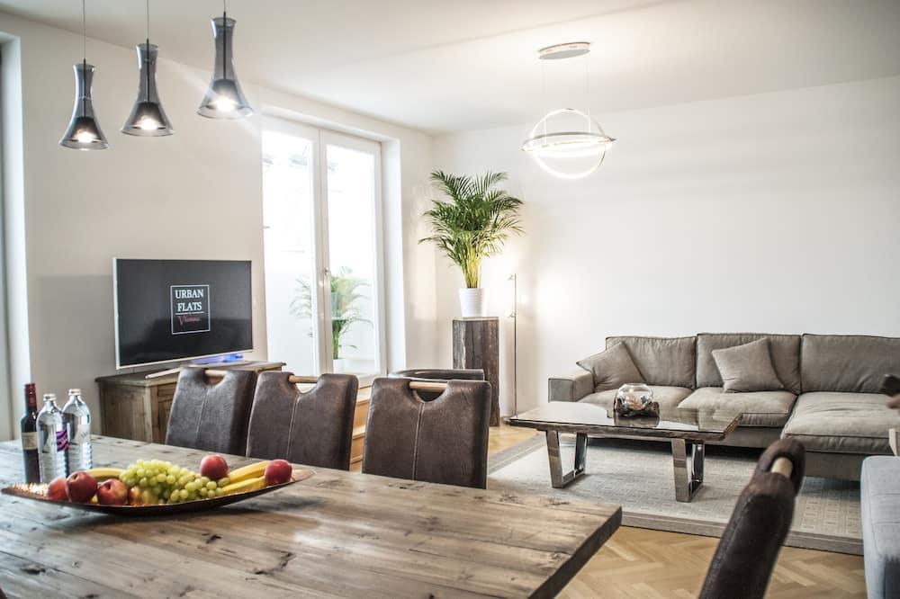 Comfort-Penthouse, 3Schlafzimmer, Terrasse (Getreidemarkt) - Wohnbereich