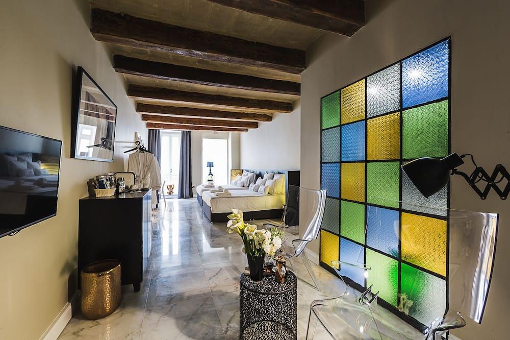 Двухместный номер с 1 двуспальной кроватью (Classic Maltese) - Зона гостиной