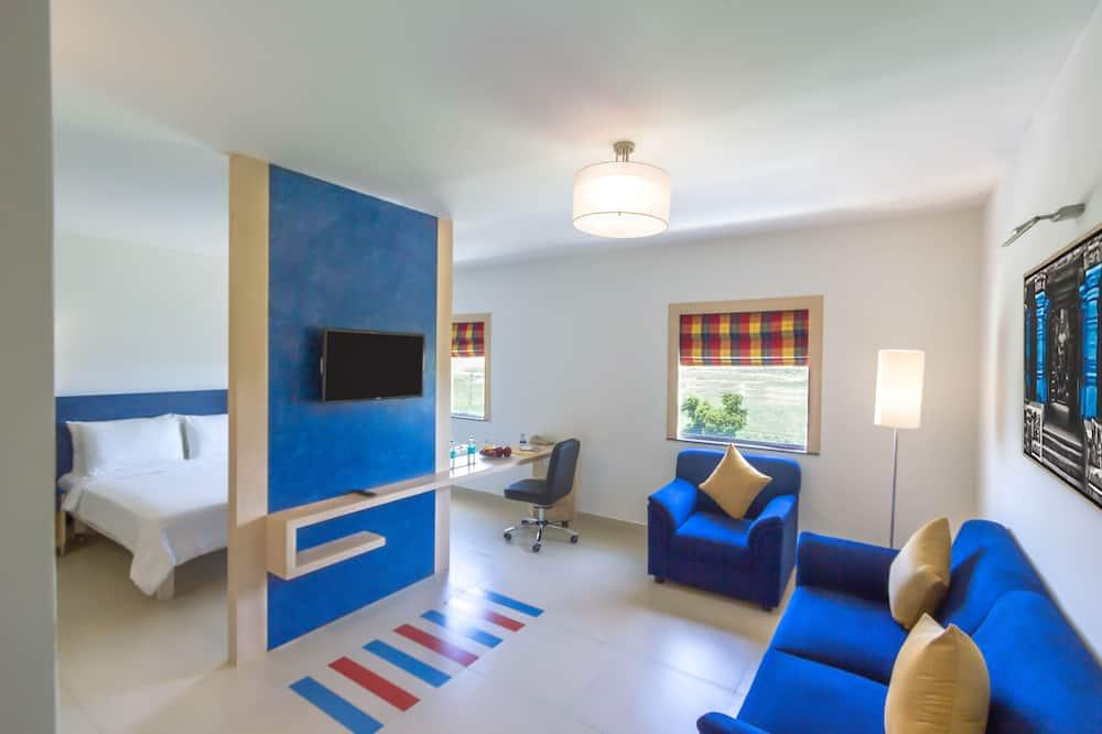 Suite, 1 lit double, non-fumeurs - Coin séjour