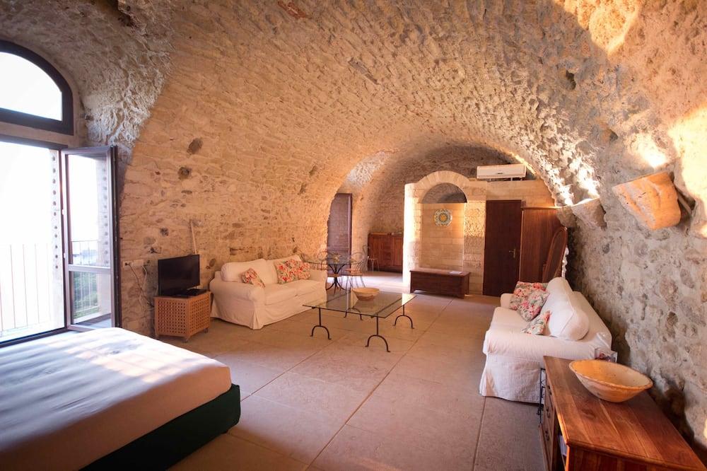 Standartinio tipo apartamentai, 1 miegamasis, vaizdas į vandenyną - Svetainės zona