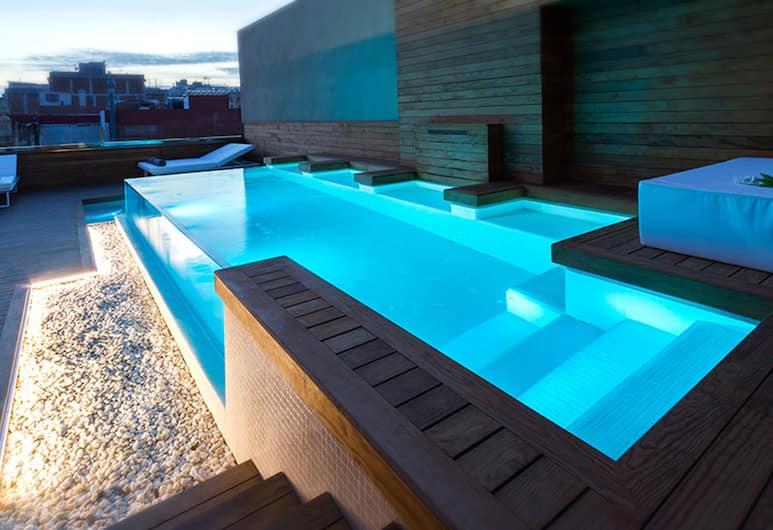 Well and Come Boutique Hotel, Barcelona, Takterrasse med basseng