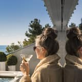 Luksusa numurs, pirts, skats uz jūru - Terase/iekšējais pagalms