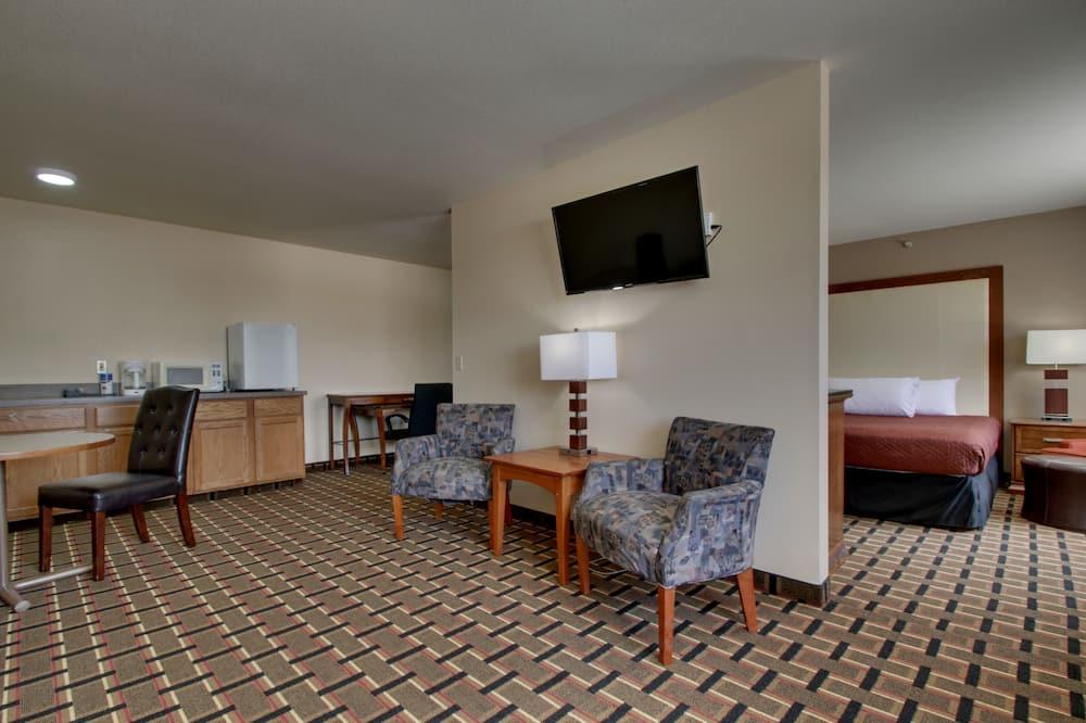 Suite presidencial, 1 cama King size con sofá cama, bañera de hidromasaje - Sala de estar