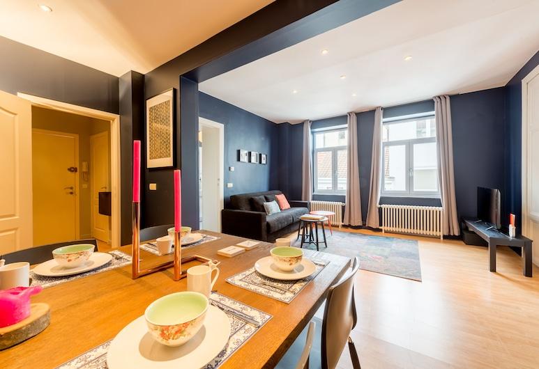Smartflats City - Royal, Brussel, Appartement, 2 slaapkamers, Woonkamer