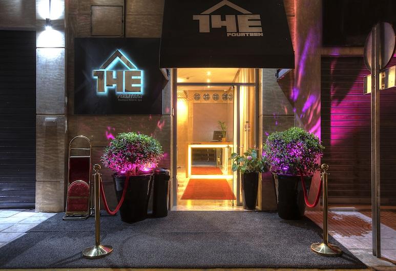 The Fourteen Luxury Boutique Hotel & Spa, Casablanca, Fachada del hotel de noche