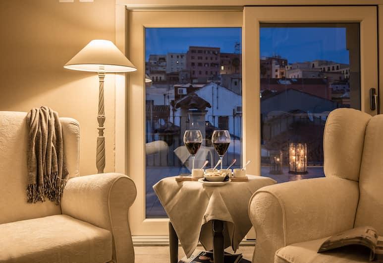 Palazzo Dessy, Cagliari, Suite Superior, 1 letto matrimoniale, terrazzo, vista città, Soggiorno