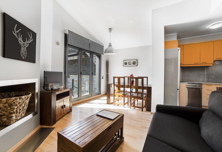 Apartaments Floc, El Tarter, Departamento, 1 habitación, vista a la montaña, Sala de estar
