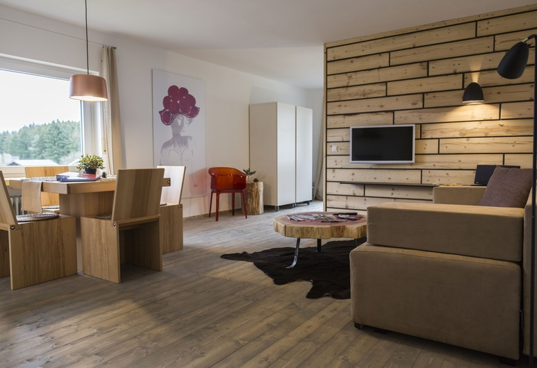 Kuckucksnest Lenzkirch, Ленцкирх, Апартаменты, 1 спальня, Зона гостиной