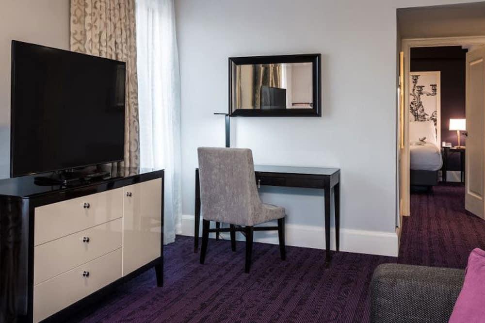 Habitación individual, 1 cama de matrimonio grande con sofá cama (King Suite) - Sala de estar