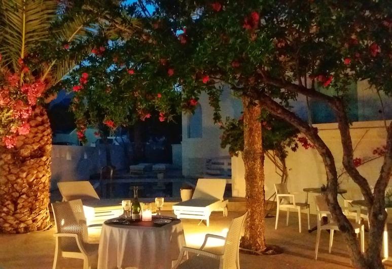 Kymata Hotel, Santorini, Hotel Front – Evening/Night