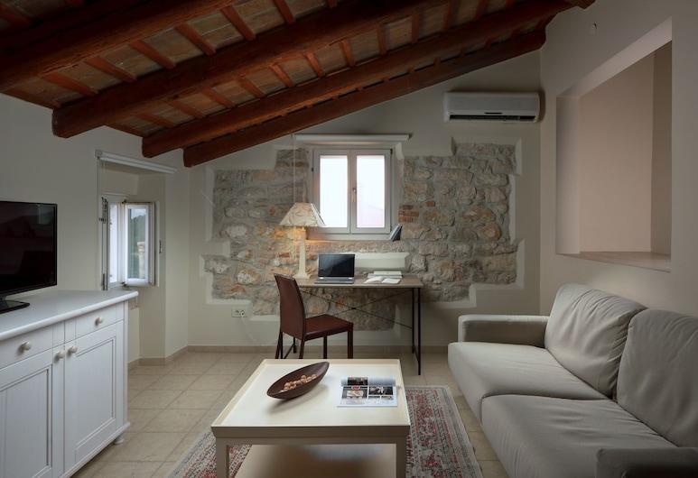 Angelo d'Oro Apartments Trevisol, Rovinj, Penthouse, kilátással a tengerre, Nappali