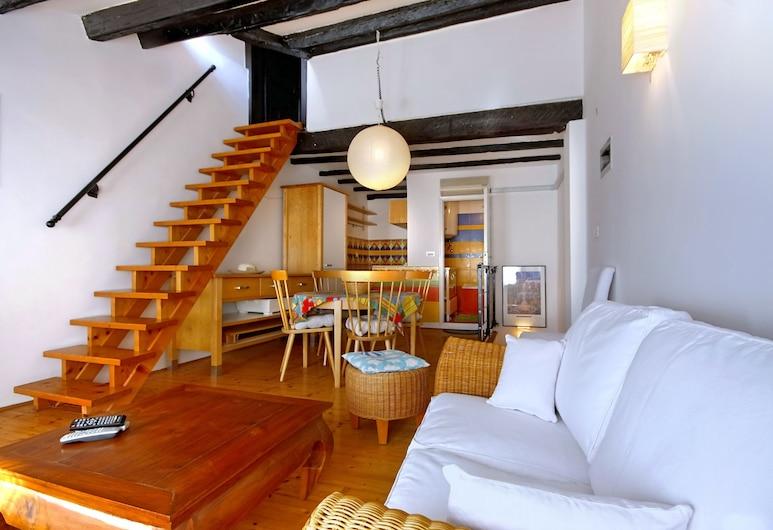 Angelo d'Oro Apartments I Volti, Rovinj, Appartement, 1 lit double, baignoire, Coin séjour