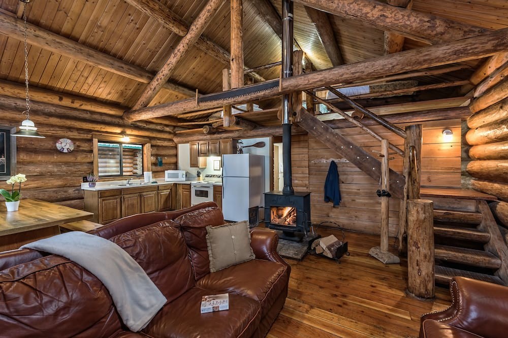 Willamette 2 Bedroom Rustic Log Cabin - 客廳