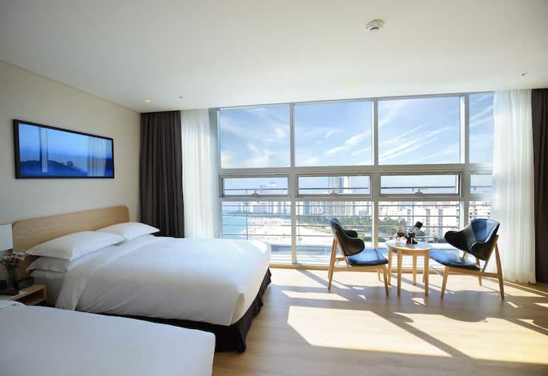 Best Western Haeundae Hotel, Busan, Suite, 2 Tempat Tidur Twin, pemandangan samudra, Kamar Tamu
