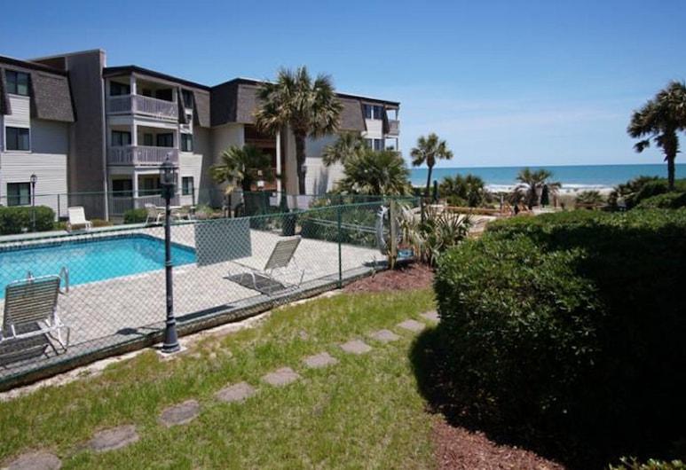 Ocean Forest Villas by Elliott Beach Rentals, Myrtle Beach, Mieszkanie, 2 sypialnie, widok na ocean (1 Queen bed 2 Single beds), Widok zpokoju