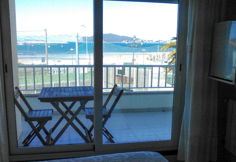 Hostal Santa Marta Playa, Baiona, Superior szoba kétszemélyes ággyal, erkély, Vendégszoba kilátása