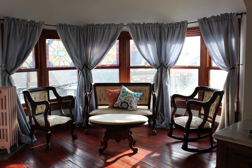 Suite Signature, 1 cama queen-size, Vista Cidade, Torre - Área de Estar
