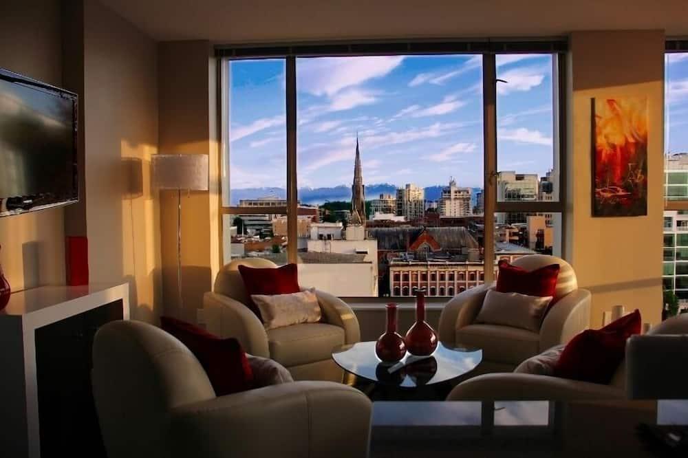 都會公寓客房, 1 張加大雙人床, 城市景 - 客廳
