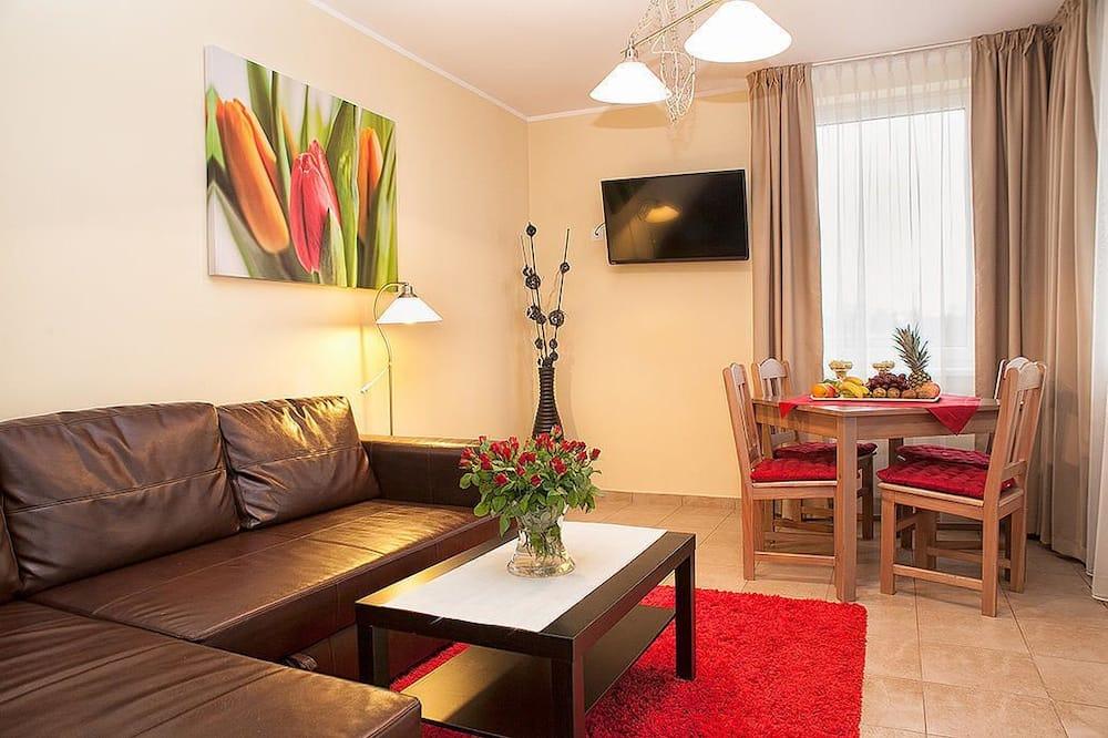 Studio, 1 Bedroom, Balcony - Living Area