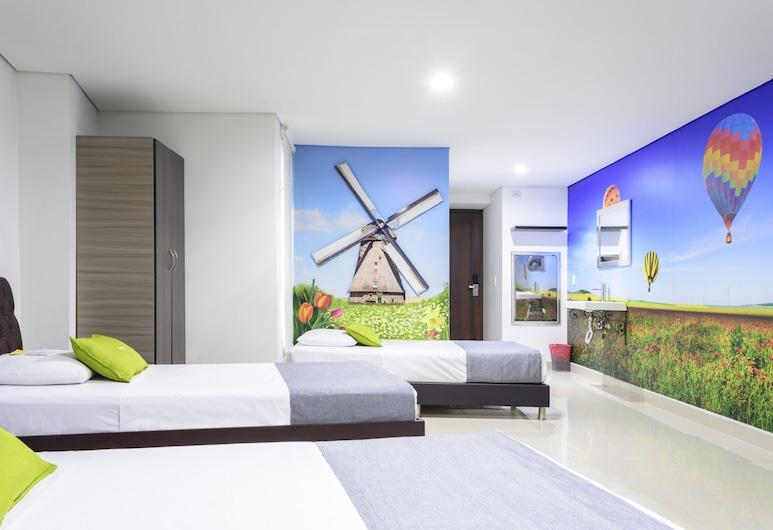Ayenda 1246 3H Hotel, Medellin, Standard fyrbäddsrum, Gästrum
