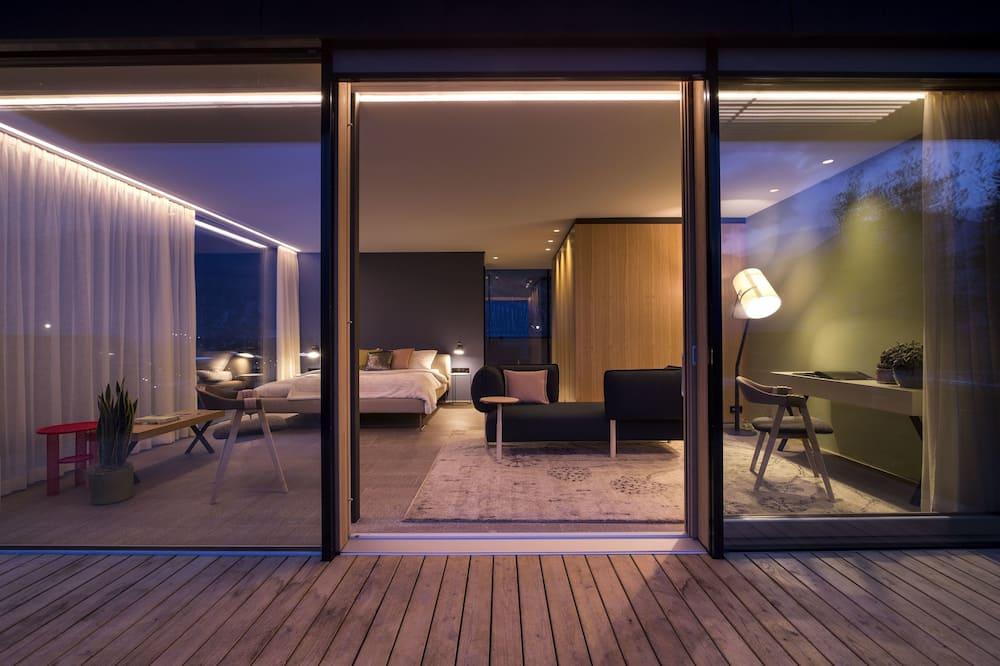Panoramski penthouse, masažna kada, pogled na planinu - Soba za goste