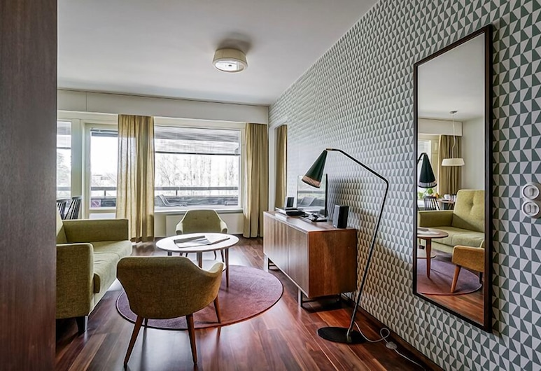 Forenom Serviced Apartments Espoo Tapiola, Espoo, Departamento, 1 habitación (for Two), Sala de estar