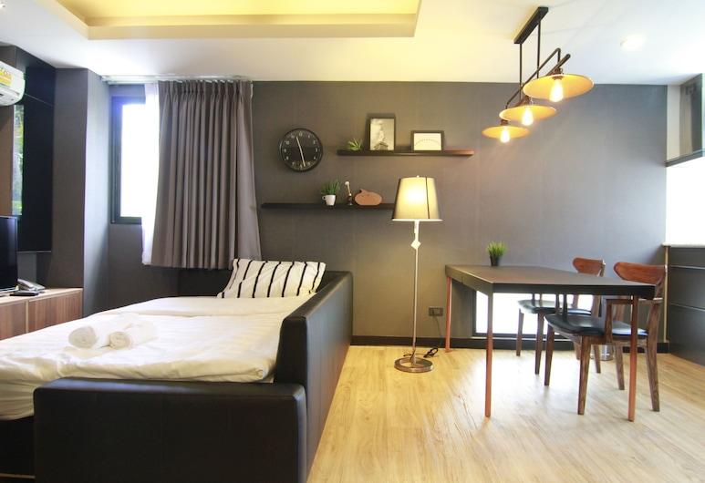 S ブロック サラデーン, バンコク, プレミア ルーム 1 ベッドルーム, リビング エリア