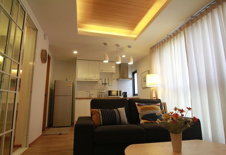 S ブロック サラデーン, バンコク, デラックス ルーム 1 ベッドルーム, リビング エリア