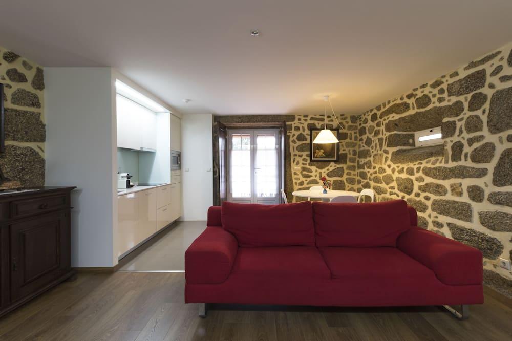 Villa Familiar, 6 Quartos, Terraço, Vista Piscina (Casa da Pousada) - Área de Estar