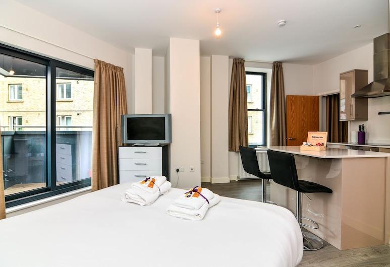 Apartment Wharf – Canary South, London, Business-Studio, 1 Doppelbett, Ausblick vom Zimmer