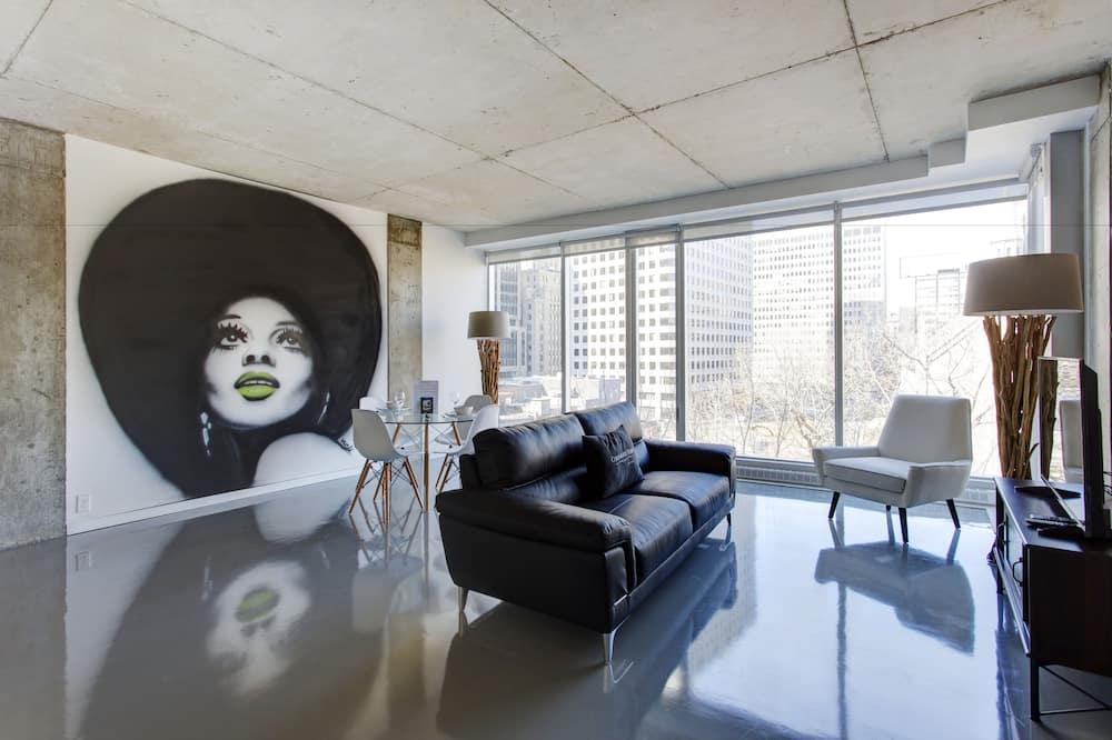 Διαμέρισμα, 1 Queen Κρεβάτι, Κουζίνα - Περιοχή καθιστικού