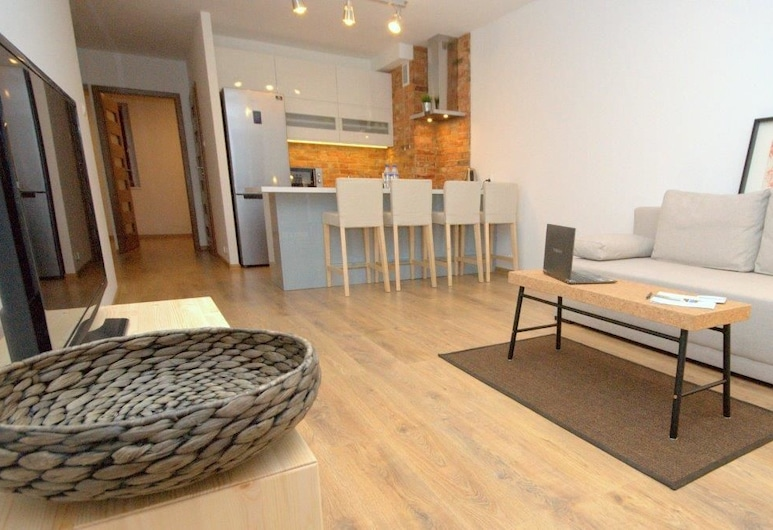 IRS ROYAL APARTMENTS – IRS Morenowe Wzgórza, Gdansk, Apartment, 1 Bedroom, Terrace (Moraine Hill), Living Area