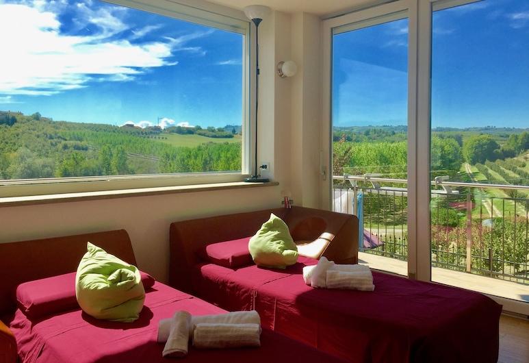 Wellness Suite Na Canunà, Roddi, Suite ejecutiva, varias habitaciones, con acceso para silla de ruedas, vista al viñedo (Dolcetto), Habitación