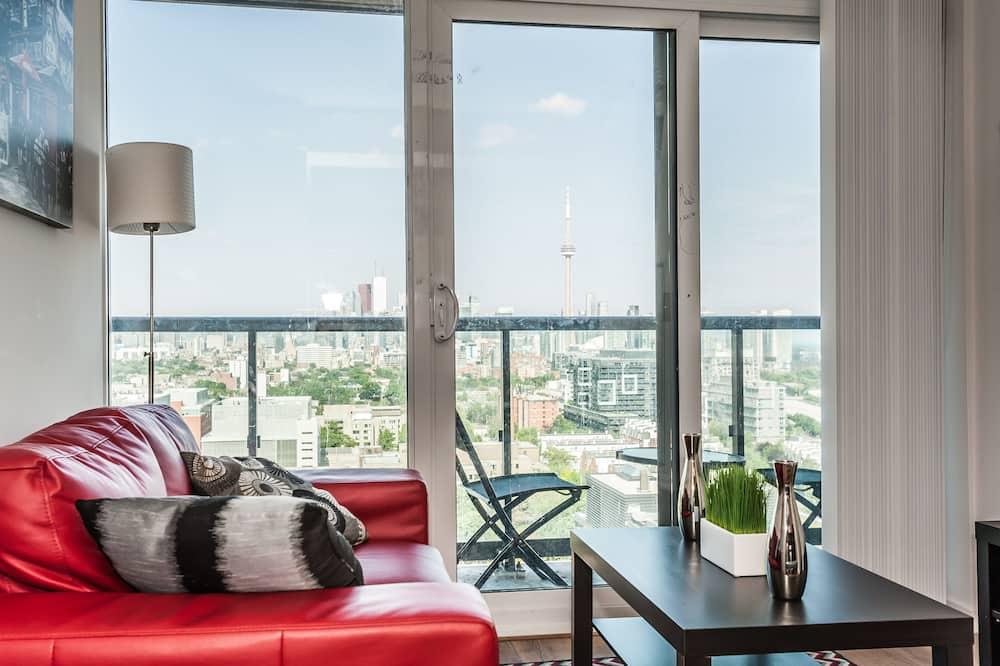 Квартира, 2 спальни, для людей с ограниченными возможностями, вид на город - Территория отеля
