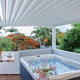 Aukštesnės klasės numeris, 1 miegamasis, karšta vonia (Suite Air: Alize) - Terasa / vidinis kiemas