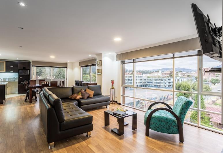 Gaviota Apartments & Suites, Cuenca, Premier Duplex, 3 Bedrooms, City View, Tower, Living Room