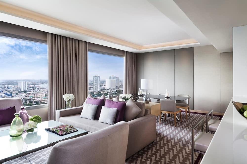 Avani River View 3 Bedroom Suite - אזור מגורים