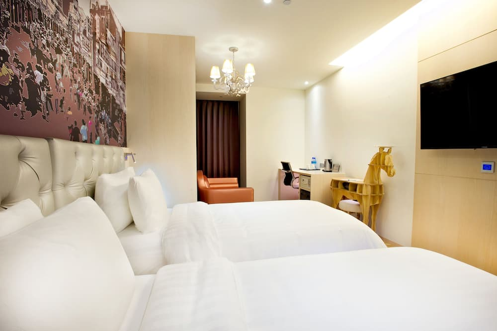 Trendy Room, 2 Twin Beds (ECO-friendly) - Living Area