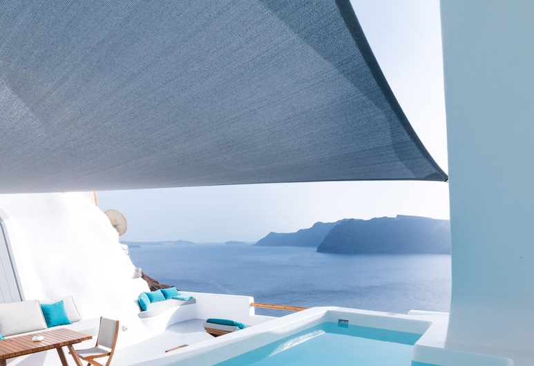 Maregio Suites, Santorini, Tina de hidromasaje al aire libre