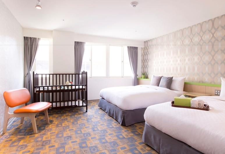 儷客旅店 - 西門町館, 台北市, 家庭四人房, 2 張標準雙人床, 客房