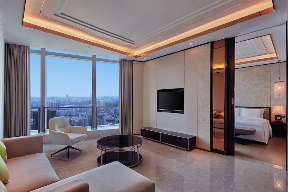King One Bedroom Deluxe Apartment - Living Area
