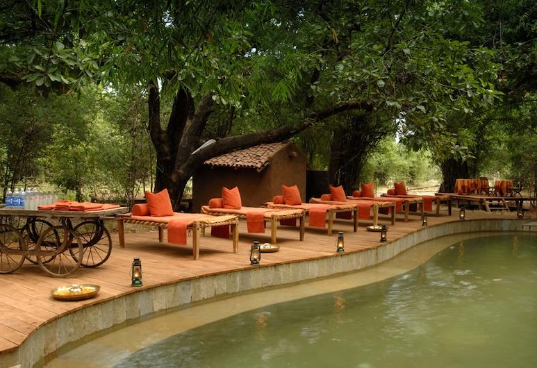 Mahua Kothi, Bandhavgarh National Park, Bandhogarh, Piscina al aire libre