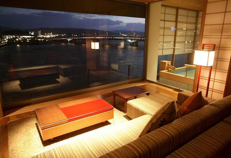 Minamikan, Ματσούε, Traditional Δωμάτιο, Μη Καπνιστών, Θέα στη Λίμνη (Japanese Western-Style), Περιοχή καθιστικού