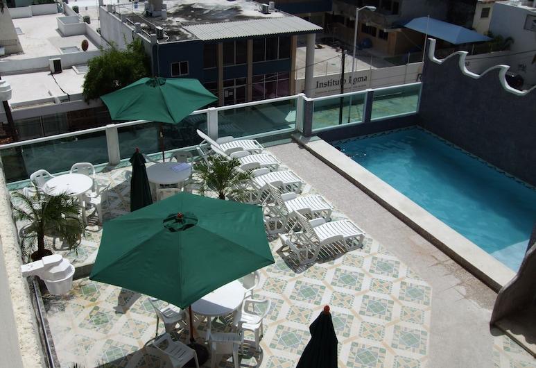 Hotel Isla de Sacrificio, Веракруз, Бассейн на крыше