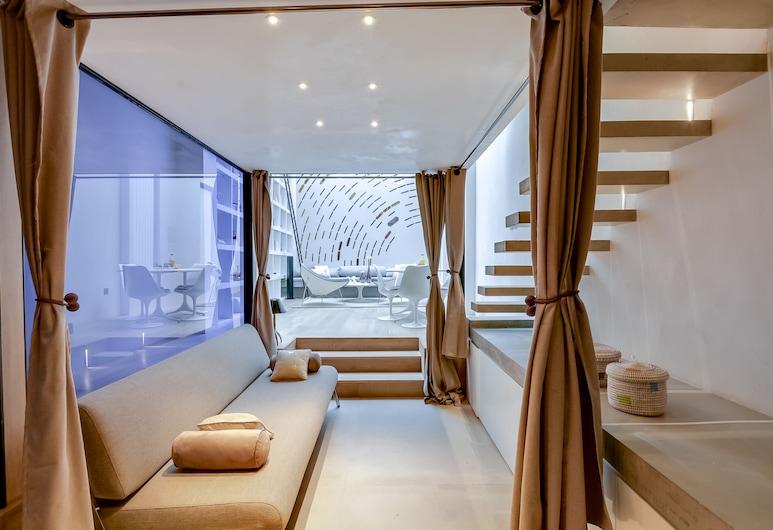 Sweet inn Apartments Grands Boulevards, Paryż, Apartament, 1 sypialnia (4 Rue de Dahomey, 75010), Salon