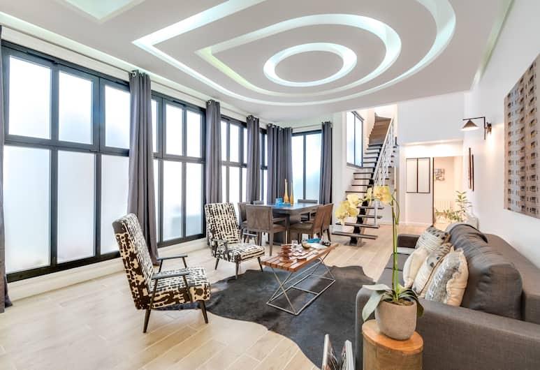 Sweet Inn Apartments - Montmartre, Paris, Loft - 3 sovrum (101 rue brançion 75015), Vardagsrum