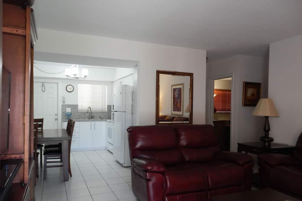 Dzīvokļnumurs ar papildu ērtībām - Dzīvojamā zona